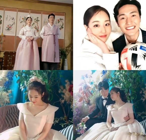 박보미가 14일 자신의 SNS에 박요한과 결혼 소식을 알리고 웨딩화보 촬영 현장도 공개했다. /박보미 SNS