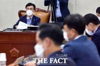 [TF사진관] 행안위 예산·결산기금심사소위원회 회의 주재하는 김민석 위원장