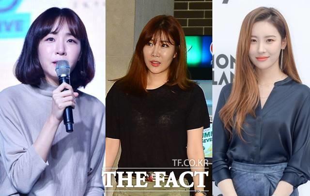작곡가 김이나, 가수 이해리, 선미(왼쪽부터)가 JTBC 새 오디션프로그램 싱어게인에 심사위원으로 합류한다. /더팩트 DB