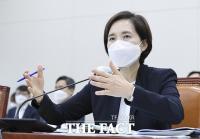 [TF사진관] 교육위 전체회의 출석해 답변하는 유은혜 장관