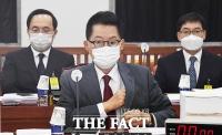 [TF사진관] 예산결산심사 위해 국회 찾은 박지원 국정원장