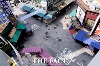 [TF포토] '텅 빈 시장 거리'