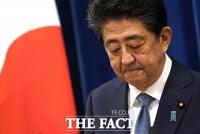 [TF사진관] 아베 일본 총리, 지병 악화로 총리직 사임