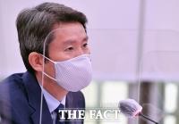 [TF포토] 질의에 답변하는 이인영 통일부 장관