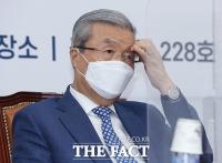 [TF포토] 생각에 잠긴 김종인 비대위원장