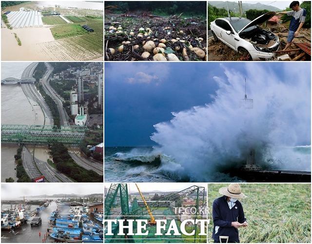 집중호우를 동반한 54일간의 긴 장마와 연달아 한반도에 상륙한 강력한 태풍으로 전국이 산사태와 홍수 등 많은 피해를 입었다. / 사진영상기획부