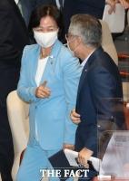 [TF포토] 본회의장 나서는 추미애 장관