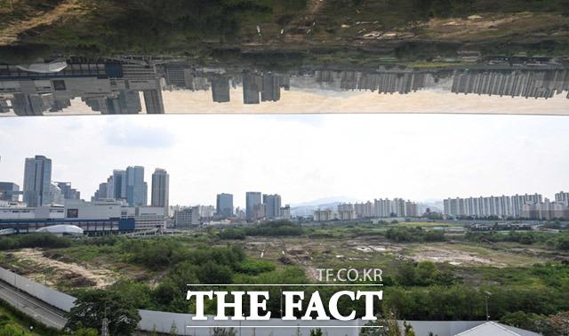 국토교통부가 수도권 주요 공공분양 아파트 사전청약에 관한 세부내용을 발표한 가운데 10일 오후 서울 용산구 구 용산역 철도 차량사업소부지 일대가 보이고 있다. /임세준 기자