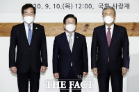 [TF포토] 오찬 간담회 참석한 이낙연-김종인