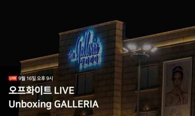 갤러리아백화점이 오는 16일 라이브방송을 시작한다. /갤러리아백화점 제공