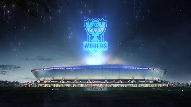 2020 리그오브레전드 월드 챔피언십 결승전이 열릴 중국 상하이 푸동 축구 경기장 모습 /라이엇게임즈 제공