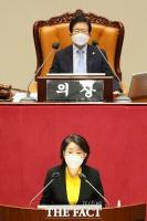 [TF포토] 비교섭단체대표 연설하는 심상정