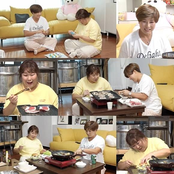 코미디언 김민경과 골프선수 박세리가 나 혼자 산다로 만나 색다른 먹방을 펼친다. /MBC 나 혼자 산다 캡처