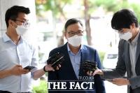 [TF포토] 취재진 질의에 답하는 정태옥 전 의원