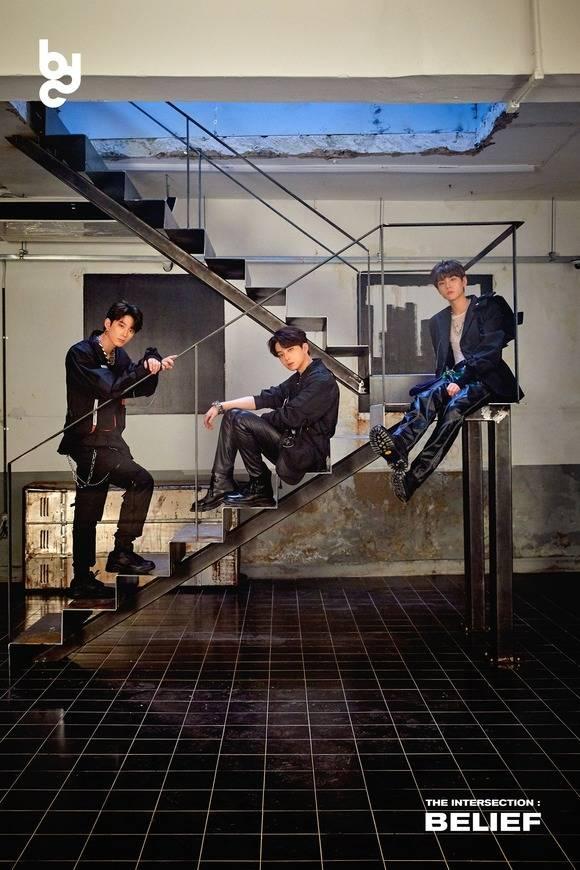 브랜뉴뮤직의 3인조 그룹 BDC가 23일 오후 6시 첫 미니 앨범 THE INTERSECTION : BELIEF를 발매한다. /브랜뉴뮤직 제공