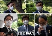 [TF사진관] '패스트트랙 충돌 사태' 첫 공판 출석하는 민주당 인사들