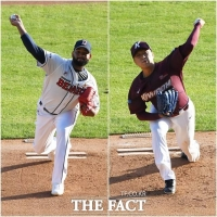 [TF사진관] 두산 알칸타라-키움 이승호, '불꽃 튀는 선발 대결'