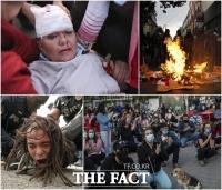 [TF사진관] 코로나19 속 세계의 시위 현장... '우려 커지는 개천절 시위'