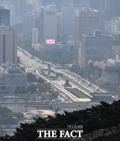 [TF포토] 경찰버스로 둘러 싸인 광화문광장