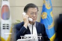 [TF사진관] 문재인 대통령 우즈벡 대통령과 통화,