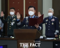 [TF포토] 선서하는 원인철 합참의장