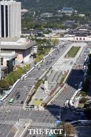 [TF포토] 차벽으로 둘러싸인 광화문 광장