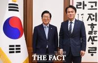 [TF사진관] 김종철 정의당 대표, 박병석 국회의장 예방