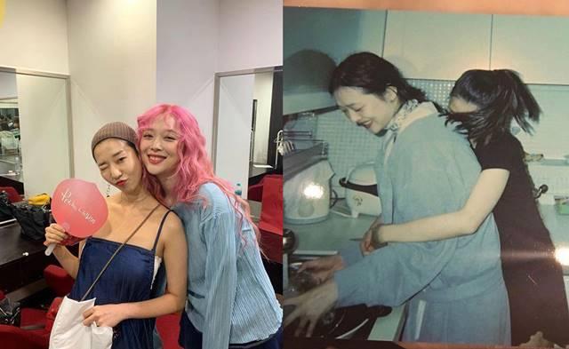 김선아가 설리가 살아있을 때 함께한 사진을 업로드하고 행복한 시간을 추억했다. /김선아 SNS