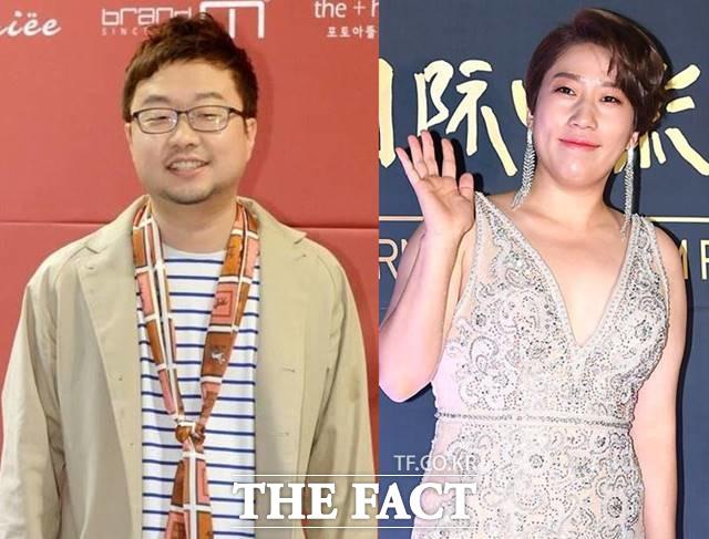 코미디언 박휘순(왼쪽)이 17살 연하 여자 친구와 결혼 소식을 알린 가운데 김영희도 10살 연하 남자 친구와 내년 1월 결혼한다고 밝혔다. /더팩트 DB