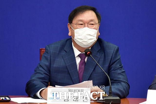 발언하는 김태년 원내대표.