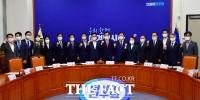 [TF사진관] '더불어민주당, 신임 전국위원장 연석회의'