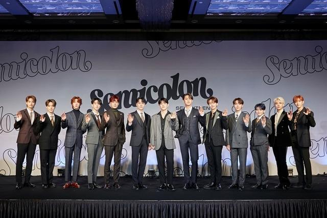 세븐틴이 19일 오후 4시 스페셜 앨범 ; [Semicolon](세미콜론) 발표 온라인 쇼케이스를 개최했다. /플레디스 제공