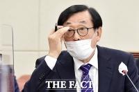 [TF사진관] 국감 출석한 김상균 방문진 이사장