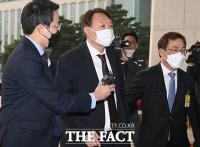 [TF사진관] 국회 도착한 윤석열, '국감 작심 발언 주목'
