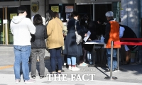 [TF포토] 유료 독감 예방접종 기다리는 시민들