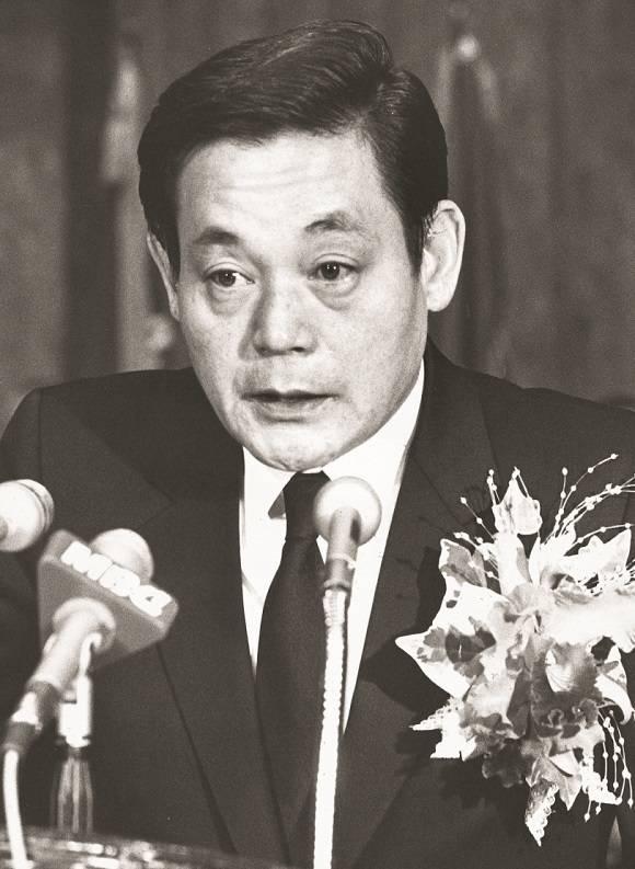 지난 1987년 12월 삼성전자 회장직오른 이건희 회장은 삼성을 초일류기업으로 만들겠다고 공언했다. /삼성 제공