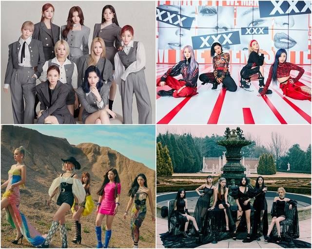 트와이스, 마마무, (여자)아이들, ITZY(왼쪽 위부터 시계방향)가 2020 더팩트 뮤직 어워즈 출연을 확정했다. 시상식은 12월 개최될 예정이다. /각 소속사 제공