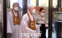 [TF사진관] 고 이건희 회장 빈소 들어서는 원불교 최고지도자 전산 김주원 종법사