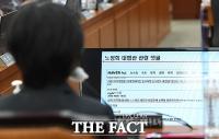 [TF포토] 자신과 관련된 댓글 보는 노정희 중앙선관위원 후보자
