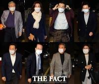 [TF사진관] 김종인, 당 중진 만나 서울시장 선거 전략 논의