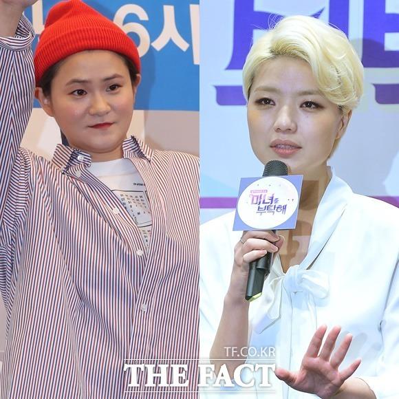 김신영(왼쪽)과 안영미는 마음을 추스르고 라디오에 복귀했다. /뉴시스