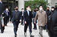 [TF사진관] '지사직 박탈 위기'...김경수, 항소심서 징역 2년