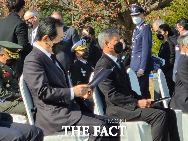 11일 유엔 참전용사 국제추모식에 참석한 정세균 국무총리. /부산=조탁만 기자