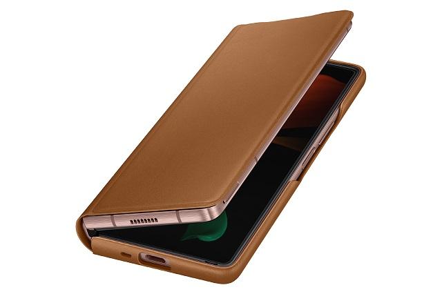 삼성전자, '갤럭시 Z 폴드2 5G' 레더 플립 커버 출시