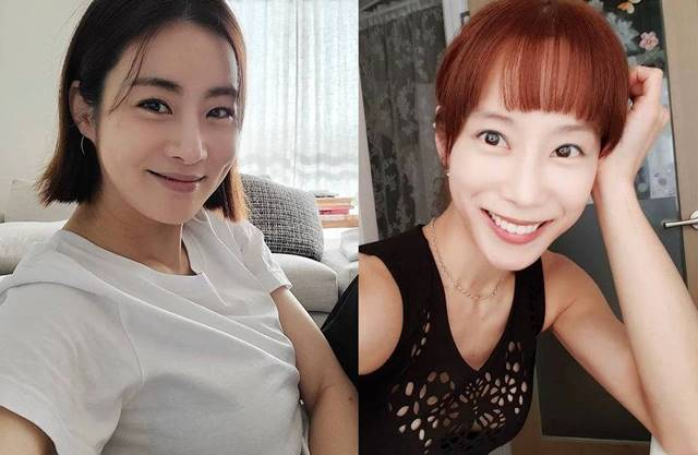 강소라는 19일 소속사를 통해 임신 소식을 전했고 조민아(오른쪽)는 15일 자신의 SNS에 결혼과 임신 소식을 동시에 밝혔다. /강소라·조민아 SNS