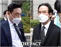 [TF사진관] 취재진 피해 나란히 2심 공판 출석한 조현식-조현범