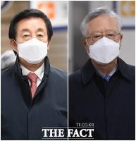 [TF사진관] KT 불법 채용 의혹 김성태-이석채, 2심 선고 공판 출석