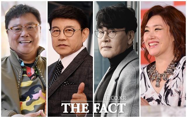 12월 5일 첫 방송을 앞둔 KBS2 트롯전국체전은 관록과 경험에서 우러난 가요계 레전드들의 깊이 있는 해설이 기대를 모은다. 왼쪽부터 남진 설운도 조항조 주현미. /더팩트 DB