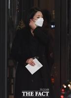 [TF포토] 김민형 전 아나운서 결혼식 참석한 배현진 의원