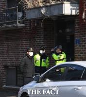[TF포토] 조두순 거주지 지키는 경찰